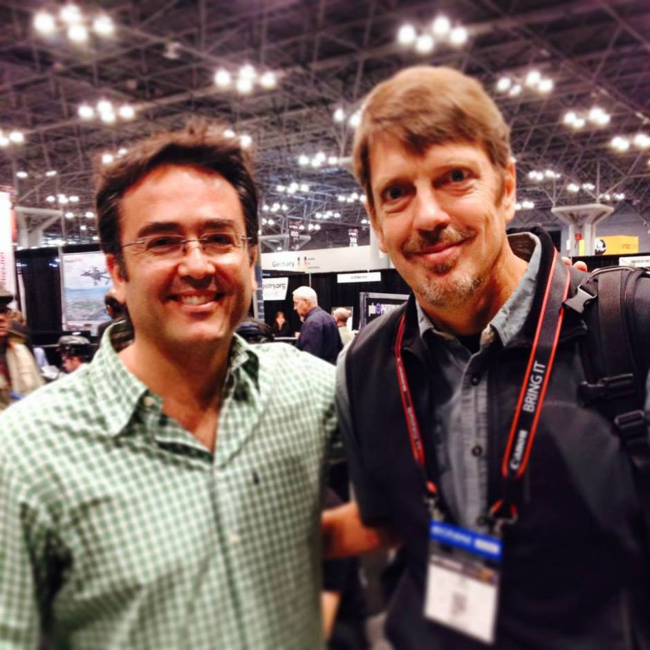 Kike with National Geographic photographer Tim Laman.