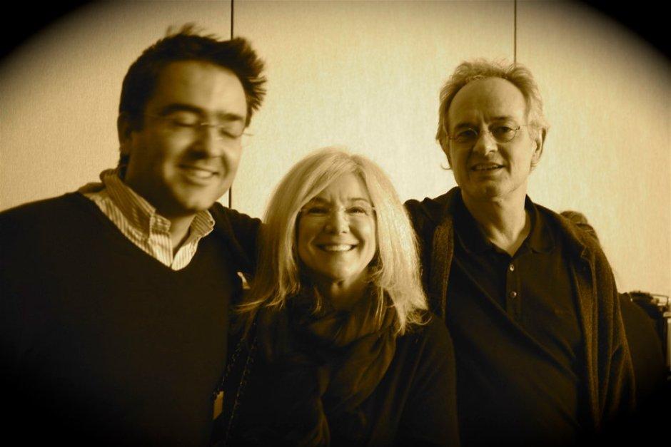 Kike with National Geographic photographers Jodi Cobb and Nick Nichols.