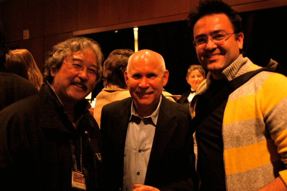 Kike with National Geographic photographers Steve McCurry and Michael Yamashita