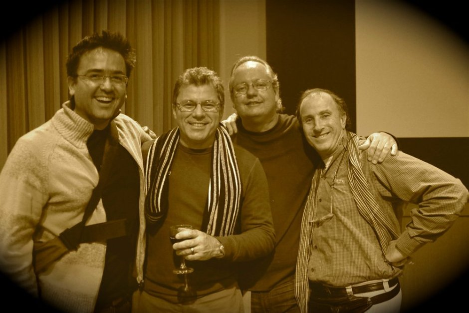 Kike with what I call the ¨Latin Combo¨, National Geographic photographers Mauricio Handler, Raul Touzon and Tino Soriano.
