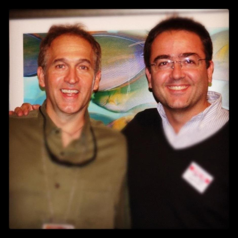 Kike with National Geographic Underwater photographer Brian Skerry.