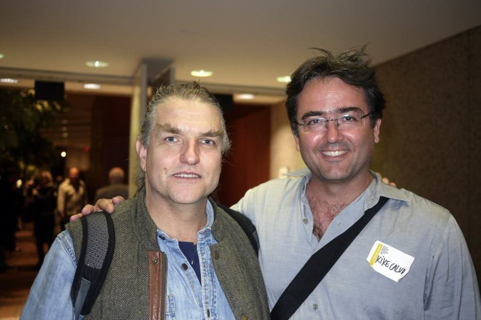 Kike with National Geographic photojournalist and founding member of the VII Photo agency,  John Stanmeyer