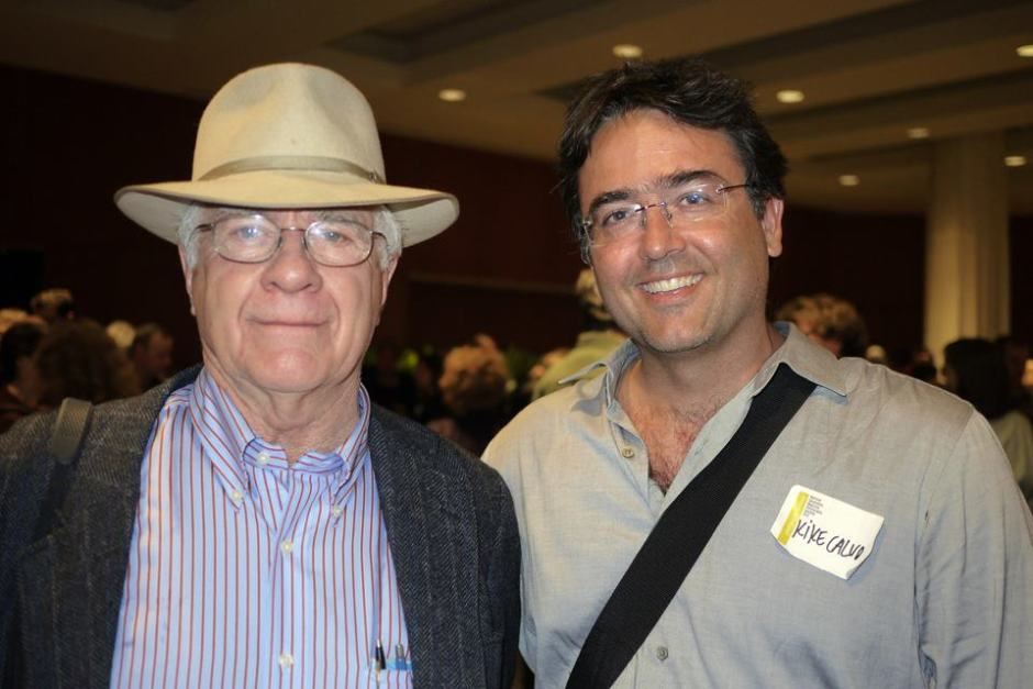 Kike with National Geographic photographer William Albert Allard