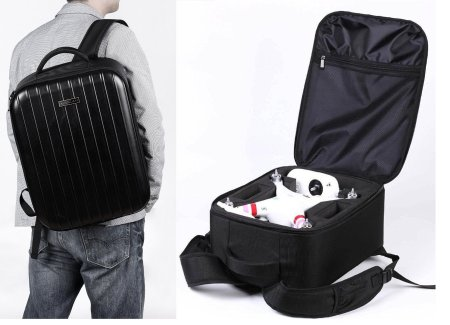 Backpack Bag Extra Light Case for DJI Phantom 1, DJI Phantom 2 Vision, DJI Phantom 2 Vision+, DJI Phantom 2 + Gimbal or DJI Phantom FC40, Fits Extra Accessories GoPro Cameras and Laptop Koozam® Products