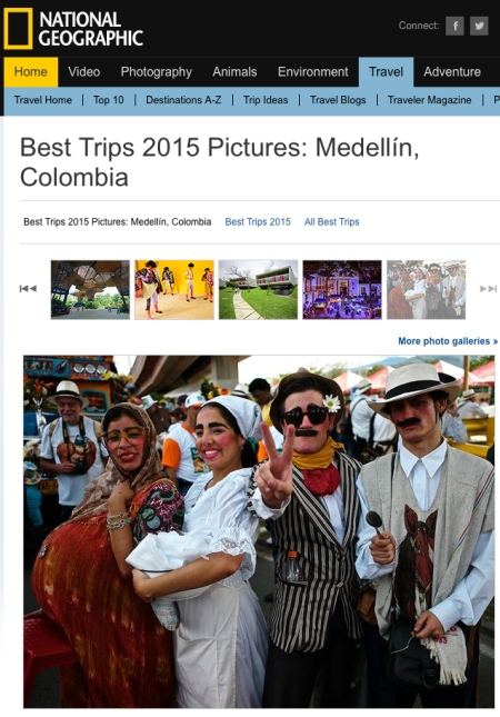 "National Geographic Traveler publishes one of my images from ""La Feria de las Flores"" in Medellin (Colombia). Photo © KIKE CALVO"