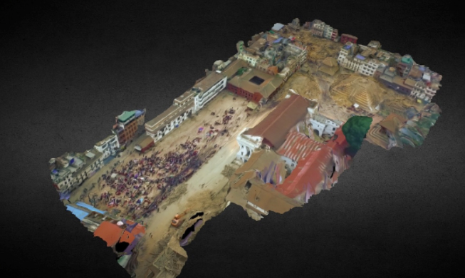 MAPPING of POST-EARTHQUAKE KATHMANDU DURBAR SQUARE on KIKE CALVO DRONE BLOG