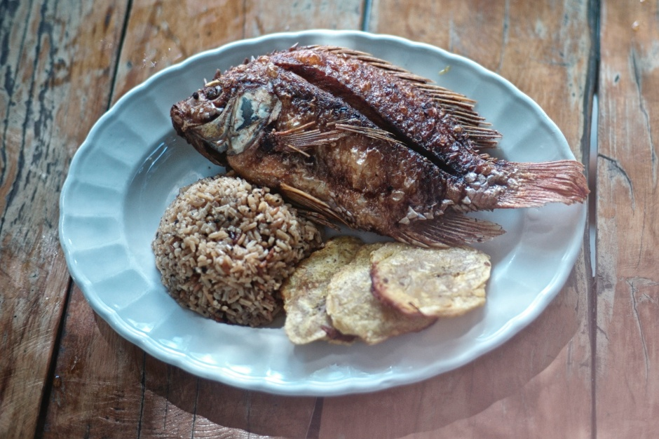Traditional Colombian Mojarra Frita