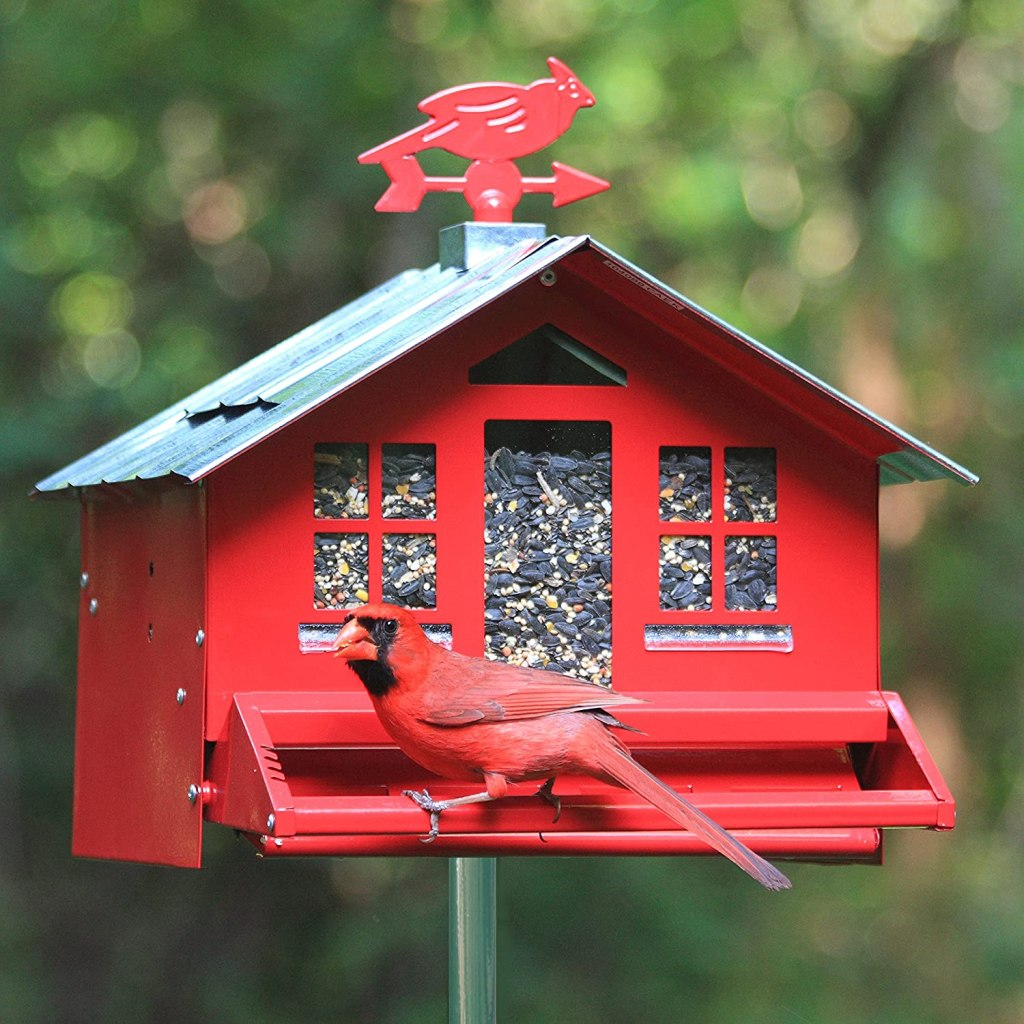 Country House Bird Feeder with Weathervane